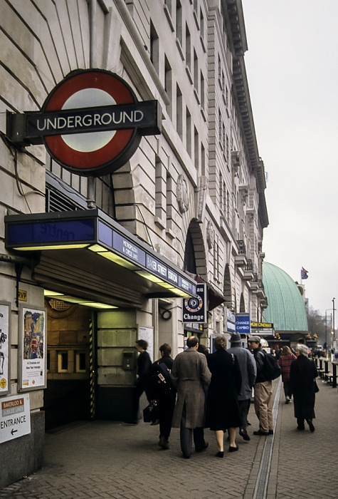 City of Westminster: Marylebone Road - Baker Street Tube Station London 1995