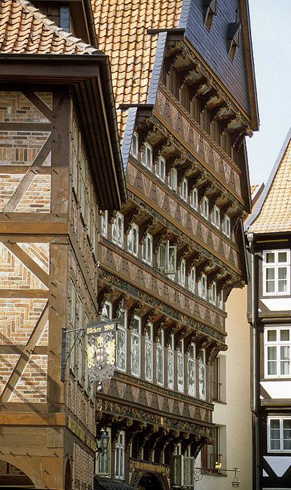 Hildesheim Marktplatz: Knochenhaueramtshaus Bäckeramtshaus