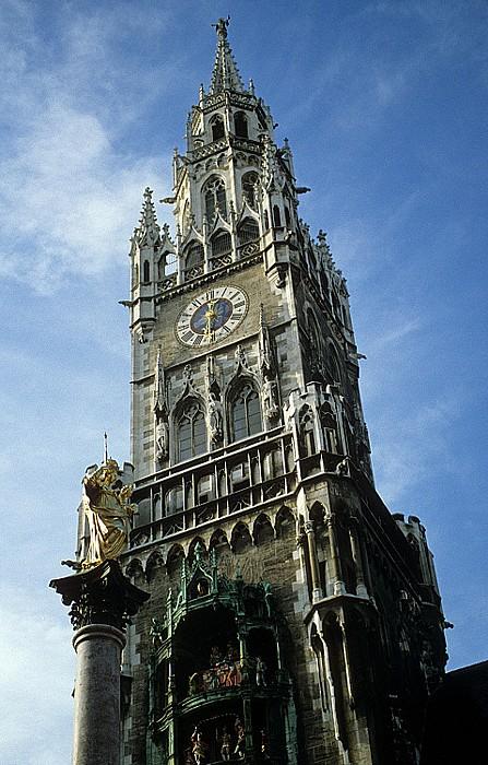 Neues Rathaus: Rathausturm München 1996