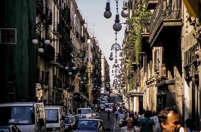 Ciutat Vella: Barri Gòtic - Carrer de Ferran Barcelona 1996