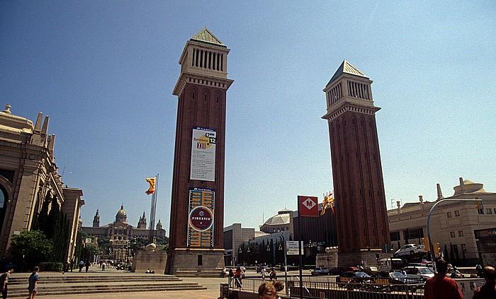Plaça d'Espanya, Torres Venecianes und Fira de Barcelona Barcelona 1996