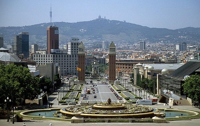 Fira de Barcelona: Font Màgica de Montjuïc und Avinguda de la Reina Maria Cristina Barcelona 1996