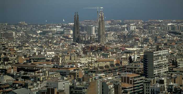 Blick vom Parc Güell: Sagrada Família Barcelona 1996