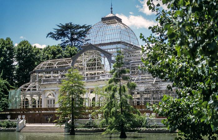 Parque del Retiro: Palacio de Cristal del Retiro Madrid 1996