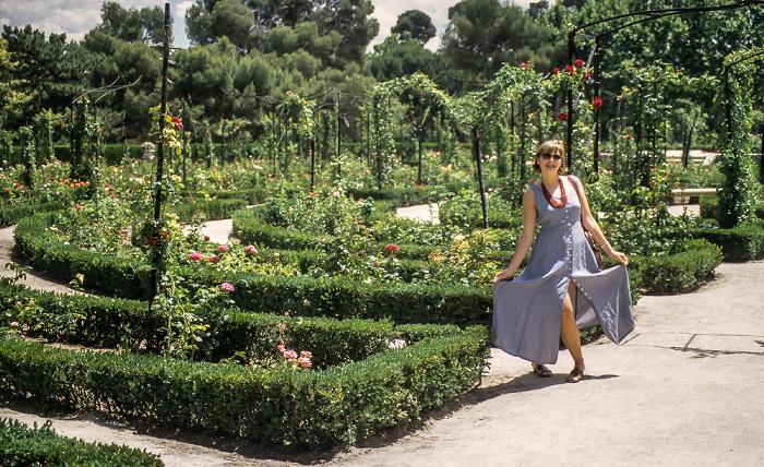 Parque del Retiro: Rosaleda del Retiro Madrid 1996