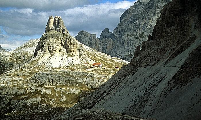 Sextener Dolomiten Toblinger Knoten und Drei-Zinnen-Hütte