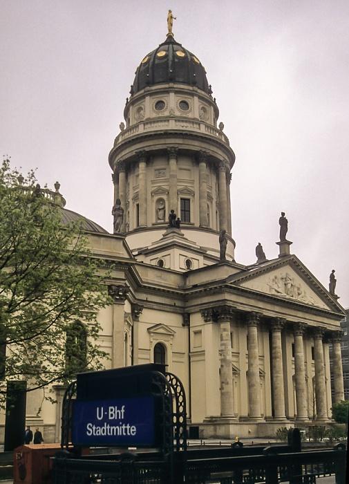 Mitte: Mohrenstraße / Gendarmenmarkt - Deutscher Dom Berlin 1997