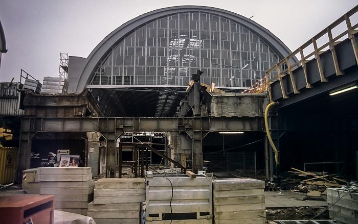 Mitte: Bahnhof Alexanderplatz (Baustelle) Berlin 1997