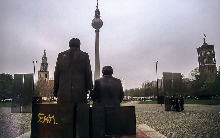 Marx-Engels-Denkmal Berlin 1997