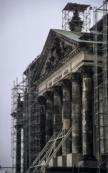 Tiergarten: Reichstagsgebäude Berlin 1997