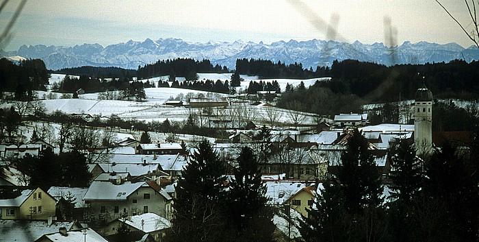 Andechs Blick auf die Alpen