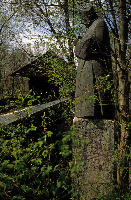 München Isar-Holzbrücke an der Hirschau