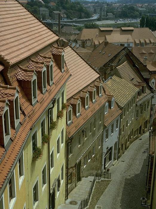 Meißen Altstadt: Hohlweg