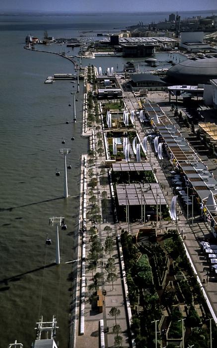 Lissabon EXPO '98: Blick vom Torre Vasco da Gama Exibicão Náutica Jardins Garcia de Orta Pavilhão da Utopia Pavilhão dos Oceanos