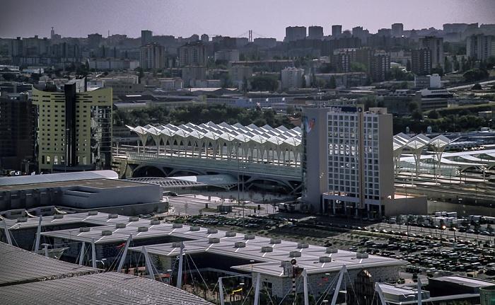 Blick vom Torre Vasco da Gama: Estação do Oriente Lissabon 1998