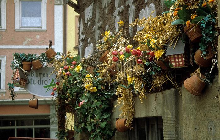 Bamberg Haus mit Pflanzenschmuck