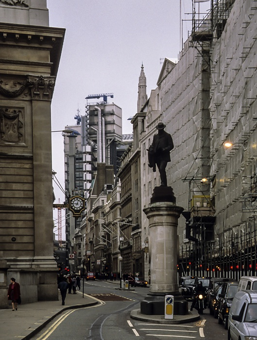 City of London: Cornhill - James-Henry-Greathead-Denkmal London 1998