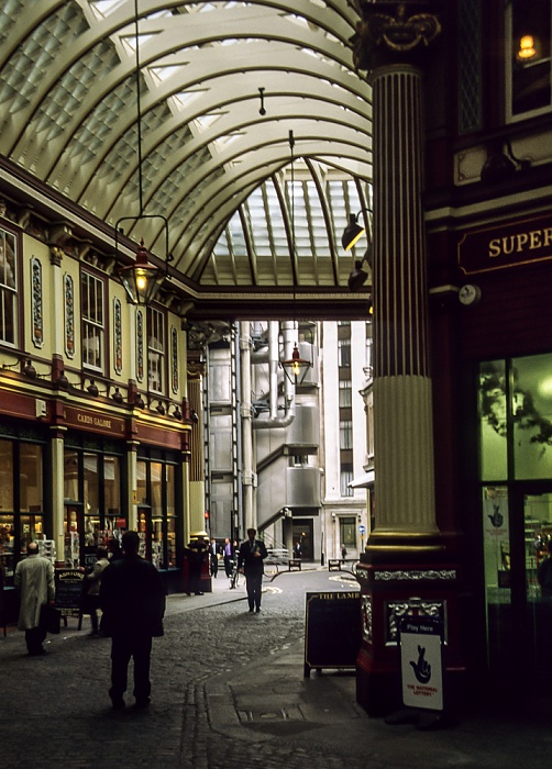 City of London: Leadenhall Market London 1998
