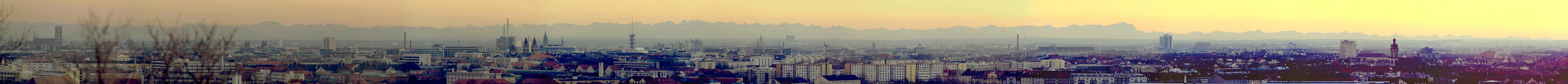 München Blick vom Olympiaberg