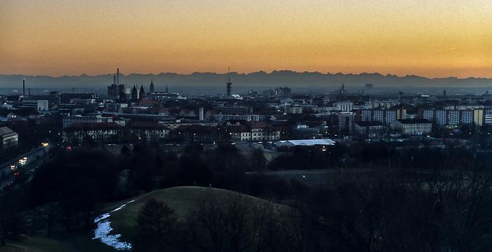 Blick vom Olympiaberg München 1999