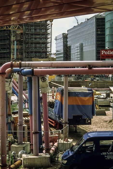 Blick von der Info-Box Potsdamer Platz: Potsdamer Platz (Baustelle) Berlin 1999