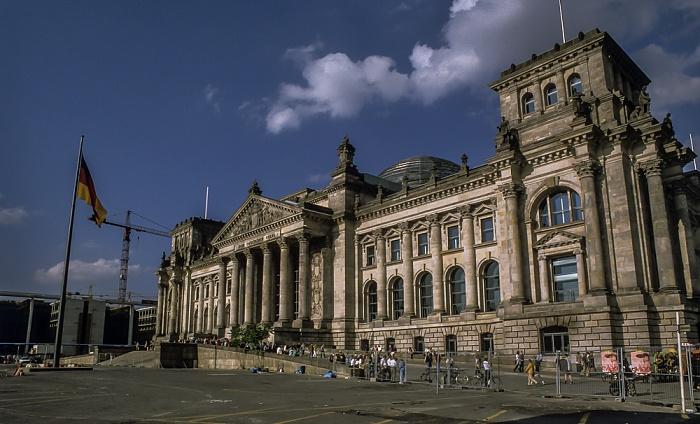 Tiergarten (Regierungsviertel): Reichstagsgebäude Berlin 1999