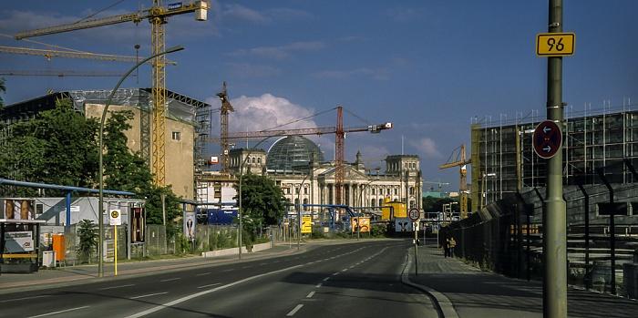 Tiergarten: Bundesstraße B 96 (Willy-Brandt-Straße) Berlin 1999