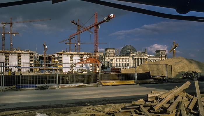 Tiergarten (Regierungsviertel): Paul-Löbe-Haus (Baustelle) Berlin 1999