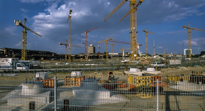 Berlin Hauptbahnhof (damals noch Zentralbahnhof): Baustelle