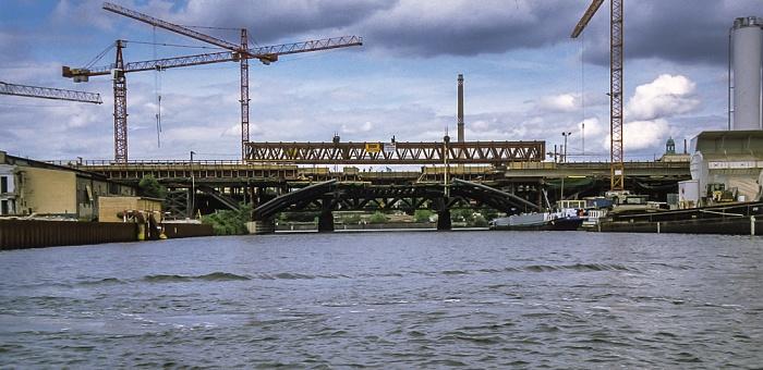Humboldthafen: Bau der Humboldthafenbrücke im Zuge der Berliner Stadtbahn Berlin 1999