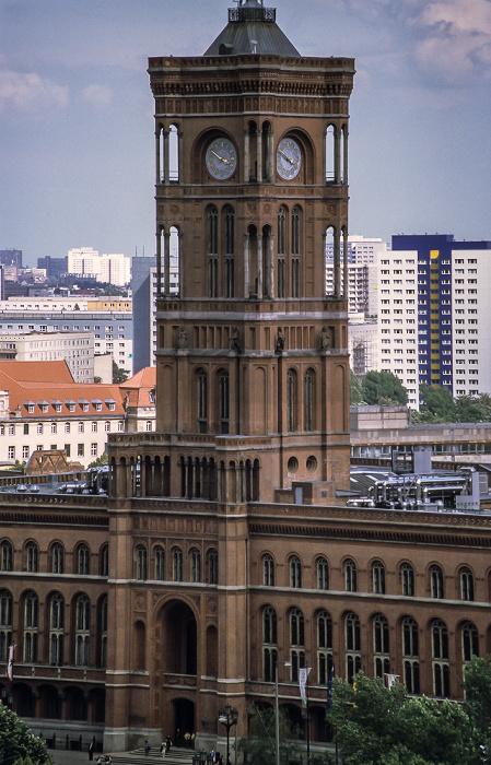 Blick vom Berliner Dom: Rotes Rathaus Berlin 1999