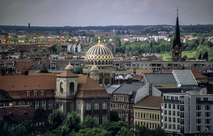 Blick vom Berliner Dom Haupttelegrafenamt Neue Synagoge Oranienburger Straße Spandauer Vorstadt