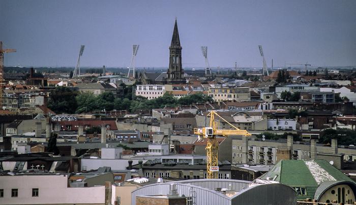 Blick vom Berliner Dom Friedrich-Ludwig-Jahn-Sportpark Zionskirche