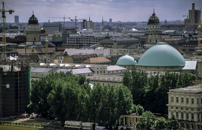 Blick vom Berliner Dom: Mitte Deutscher Dom Französischer Dom Gendarmenmarkt Konzerthaus Potsdamer Platz St.-Hedwigs-Kathedrale