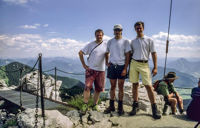 Kampenwand Ostgipfel: Jürgen, Michael, Axel