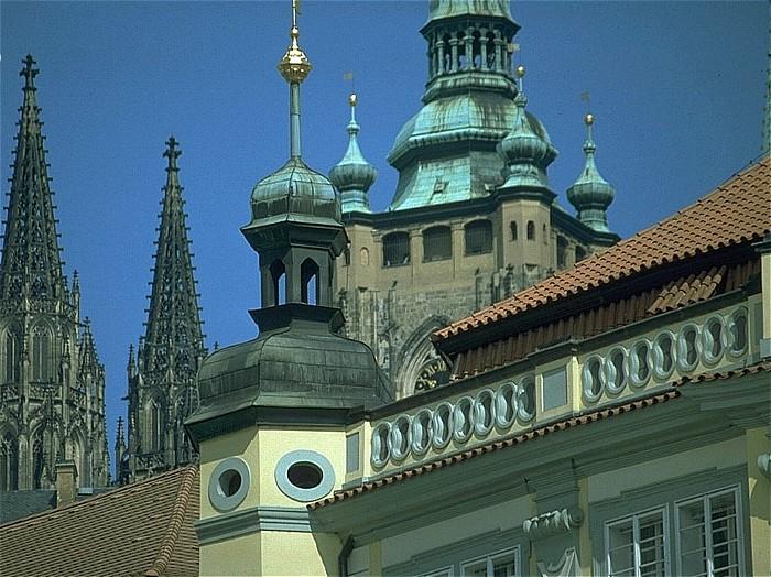 Prag Blick von der Kleinseite auf den Hradschin St. Veits-Dom