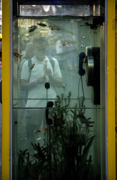 Hannover EXPO 2000: Telefonzelle als Aquarium