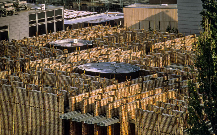 Hannover EXPO 2000: Blick von der Postbox: Schweizer Pavillon Postbox EXPO 2000 Schweizer Pavillon EXPO 2000