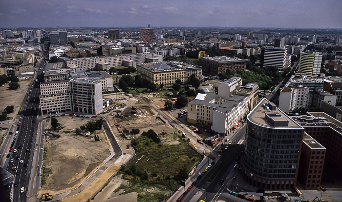 Blick vom Gebäude Potsdamer Platz 1 Berlin 2001