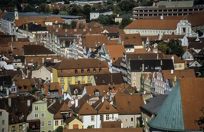 Blick von der Burg Trausnitz: Altstadt - Neustadt Landshut 2001