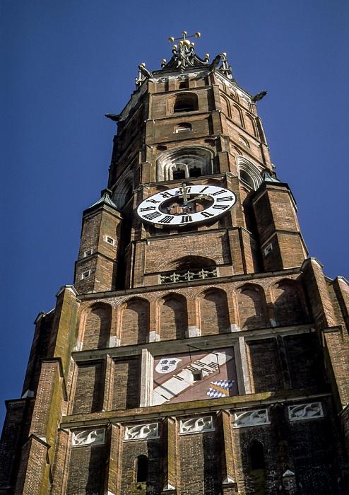 Altstadt: Martinskirche (Stadtpfarr- und Kollegiatstiftskirche St. Martin und Kastulus) Landshut 2001