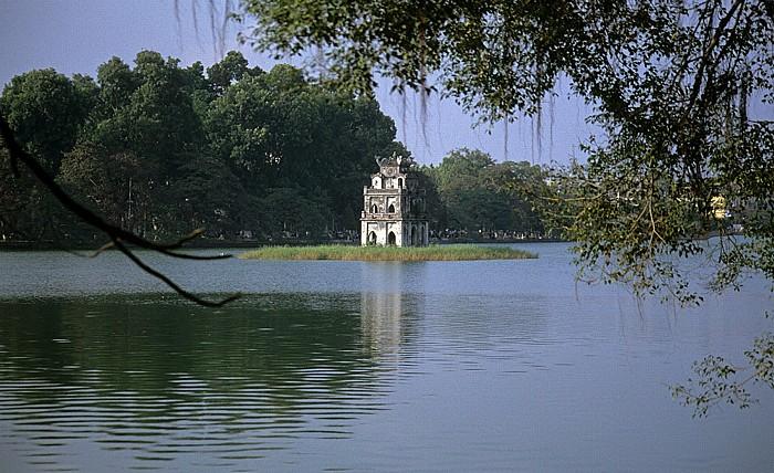 Hanoi Hoan Kiem-See mit der Schildkrötenpagode
