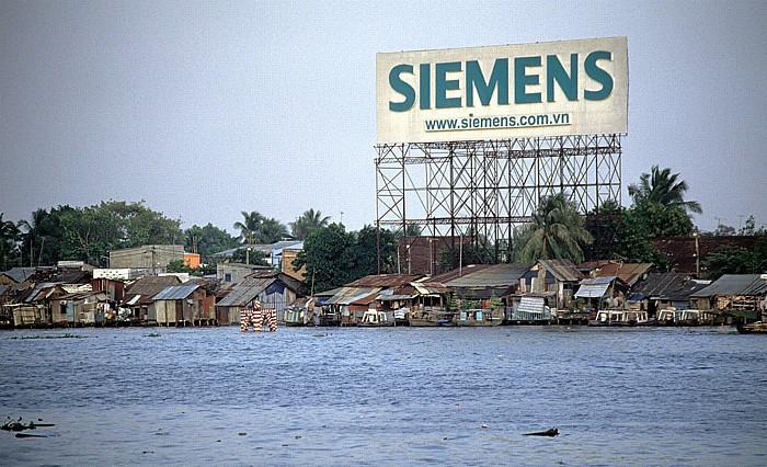 Siemens-Werbung am Saigon-Fluss