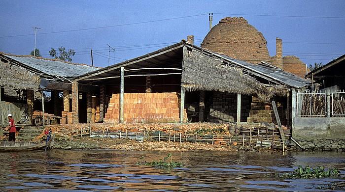 Mekong-Delta Ziegelbrennerei