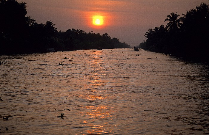 Mekong-Delta Sonnenuntergang