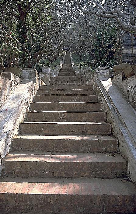 Luang Prabang Treppe auf den Phousi