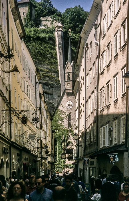 Salzburg Getreidegasse Bürgerspitalkirche