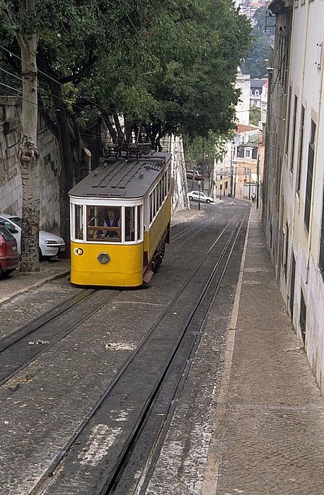 Calçada da Glória: Elevador da Glória Lissabon 2002