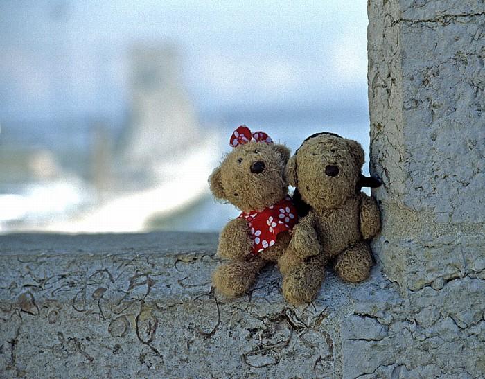 Lissabon Belém: Torre de Belém: Teddine und Teddy Padrão dos Descobrimentos