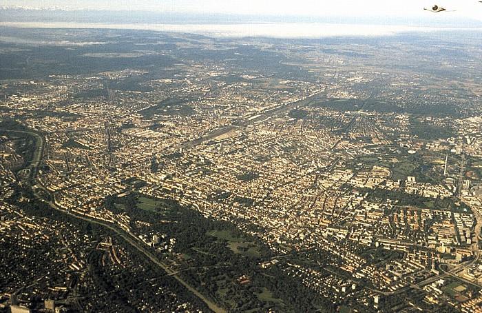 Blick Richtung Süden und Westen München 2002
